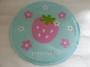 Petstyle 圓形藍色草莓花涼墊 (40cm)