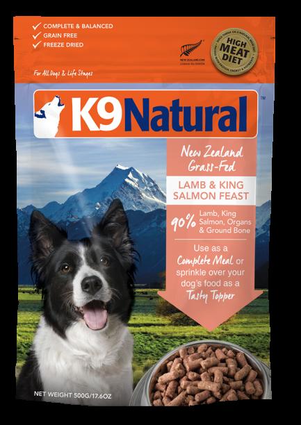 (會員優惠 買3包9折!)K9 Natural -Lamb and King Salmon Feast 紐西蘭脫水鮮肉狗糧 -羊肉三文魚盛宴