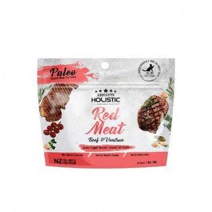 Absolute Holistic-Red Meat無穀物脫水牛+鹿肉貓小食50g(8月到貨)