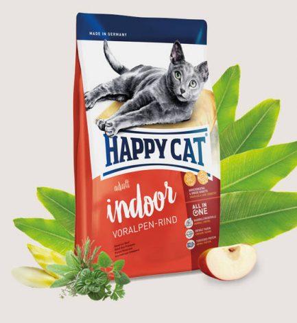 Happy Cat Indoor Voralpen-Rind 成貓室內牛肉大粒配方 1.4kg