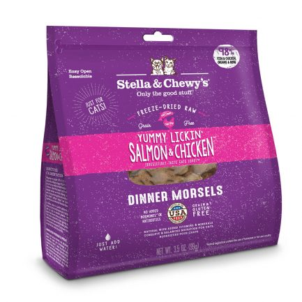 (會員優惠 買3包9折!)Stella & Chewy's 凍乾生肉貓糧 - 三文魚及雞肉