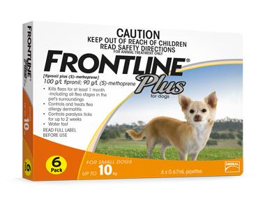 (會員優惠)購買2盒Frontline Plus或以上可以$205購買Frontline Plus 犬用殺蝨滴 (10公斤以下犬