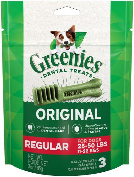 (限時優惠)購物滿$650,即送您Greenies潔齒骨(標準 Regular)3件裝3oz一包!(原價$35)
